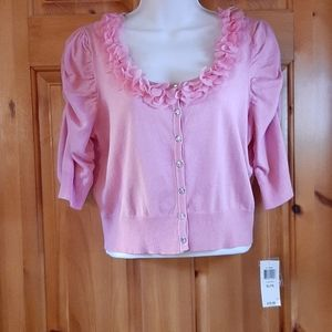 INC International Concepts pink cropped sweater